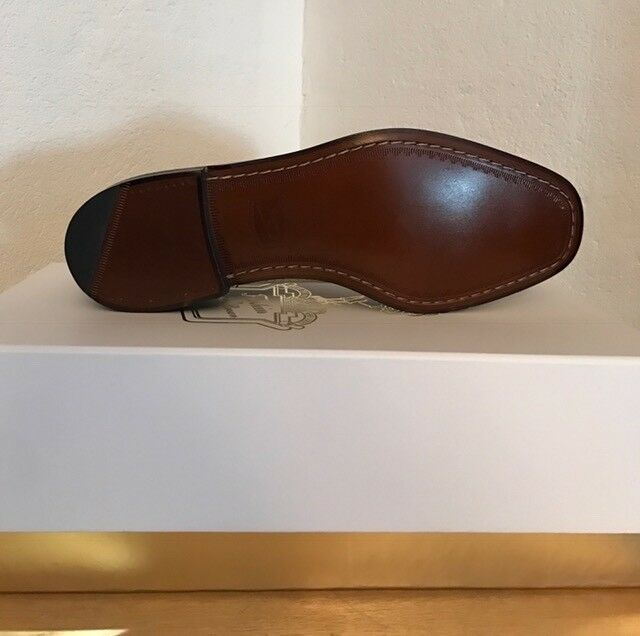 Florsheim by Duckie - Brown - Duckie Light Grey Perforated Oxfords - Size 9 - New 3f905d