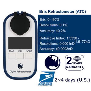 RHINO-0-90-Digital-Brix-Maple-syrup-Jam-Sauces-Juice-Refractometer-ATC-IP65
