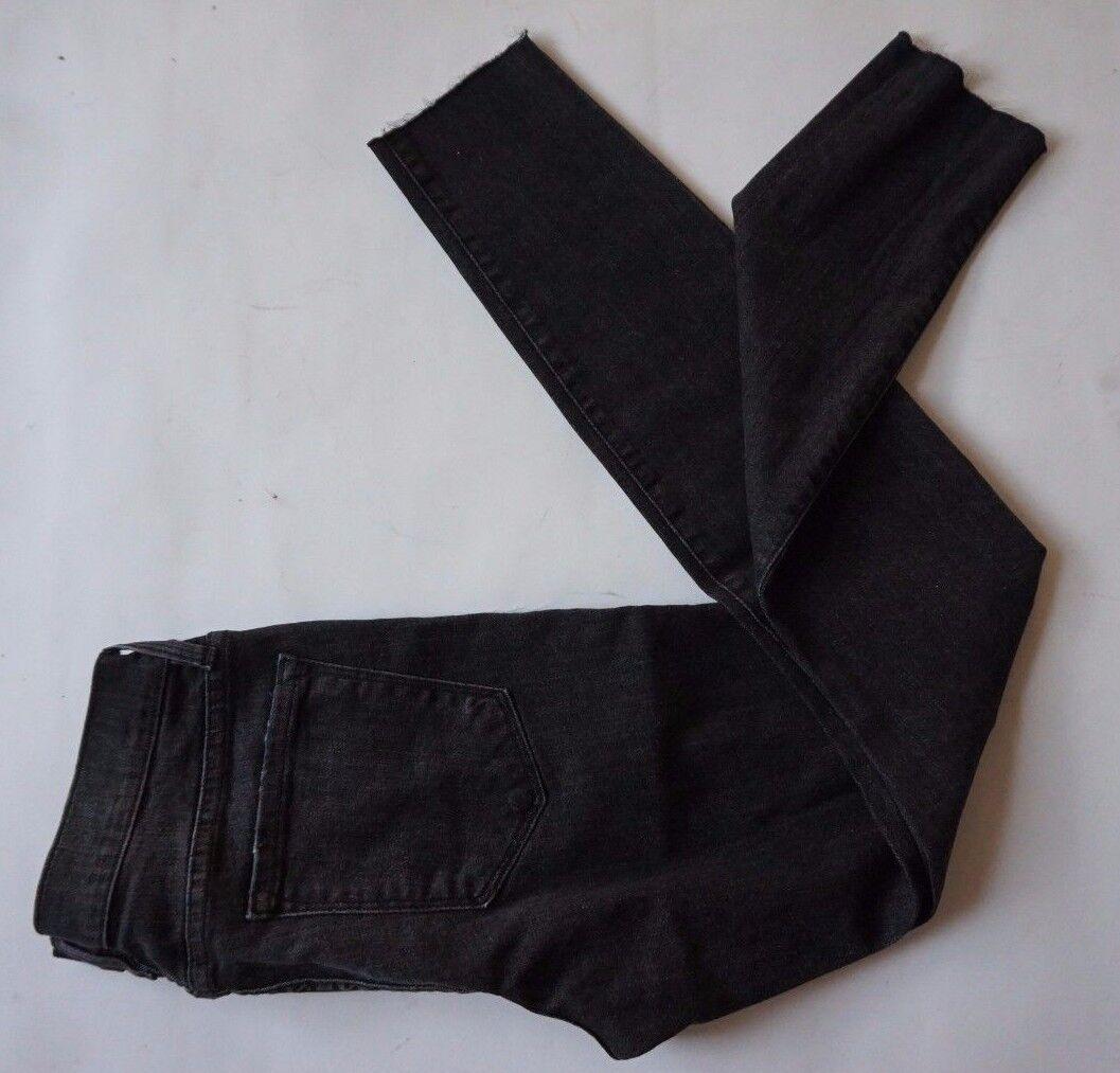 Neu mit Etikett Rahmen Jeans Mercer LSJRE134 Schwarz Trüb Röhrenjeans Damen Größe