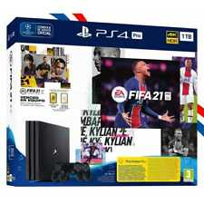 CONSOLE PS4 PRO 1TO + 2 MANETTES DUALSHOCK 4 + JEU PHYSIQUE FIFA 21 PLAYSTATION4