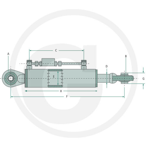 Hydraulischer Oberlenker Kat.1/_530-810/_Schlauchsatz/_Unimog/_Schlepper/_Traktor/_