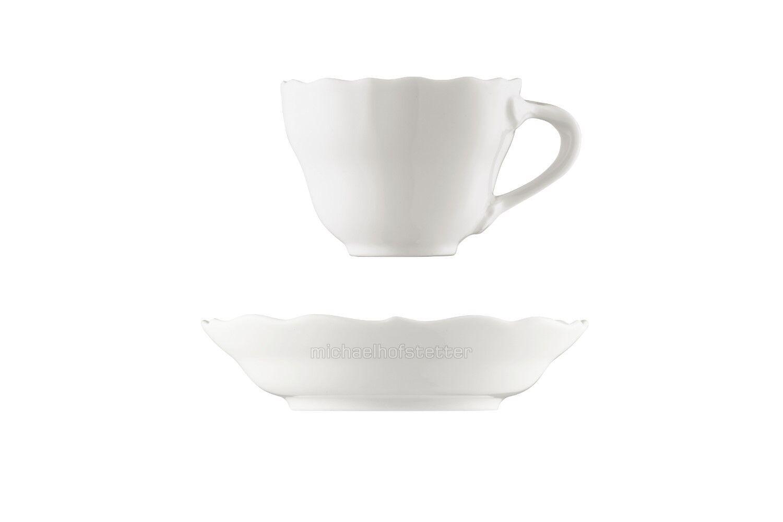 6x HUTSCHENREUTHER Marie-thérèse weiss Moka tasse 0,1l avec soucoupe 2tlg. nouveau