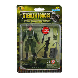 Action-Men-Figures-Soldier-Toy-Kids-Military-Play-set-Special-Force-Action-9cm