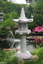 Yukimi auf Säule HK japanische Steinlaterne Laterne Frost u.Wetterfest Steinguss