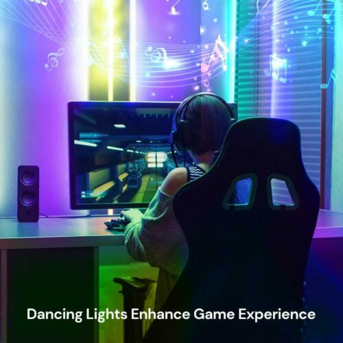 Bluetooth Music Sync 16.4FT RGB LED Strip Light Color Changing Party Lights
