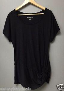 Liz Lange Maternity Women's Pregnancy Top Tee tunic shirt Black Size Small New