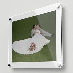 Wall Mounted Acrylic Photo Frame Holds 1 A3 Image Free Level