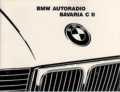 bmw radio bavaria c ii betriebsanleitung 1989. Black Bedroom Furniture Sets. Home Design Ideas