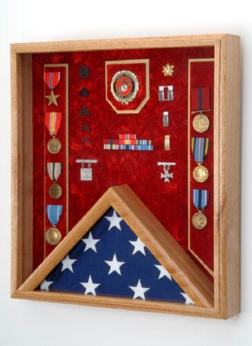 For 3x5 Flag Military Shadow Box All Military Branch of Service available