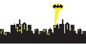6 sizes gotham city skyline batman decal removable wall sticker