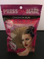 Press On Hair Chignon Bun Hair Extension, Dark Blonde, 12/619 By Sobe