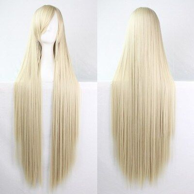 Fashion Womens Wigs Long Straight Anime Cosplay Party Wig Multicolor 80/100cm