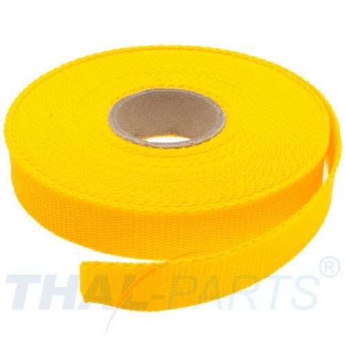 1,6mm stark gelb Polypropylen Taschengurt 10m Gurtband 25mm Breit ca