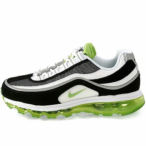 2017 Nike Air Max 24 7 2017 Running Shoes SZ 10 White Black Green 397252 102