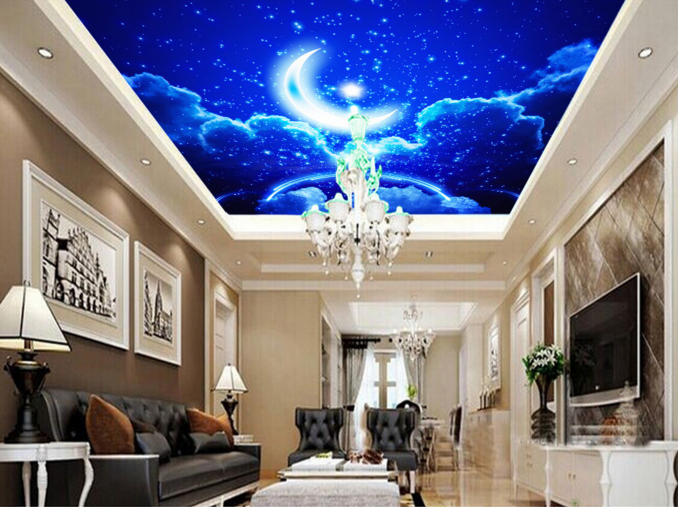 3D Mondlicht Sterne 7 Fototapeten Fototapeten Fototapeten Wandbild Fototapete BildTapete Familie DE Kyra | Online Kaufen  |  c79f66