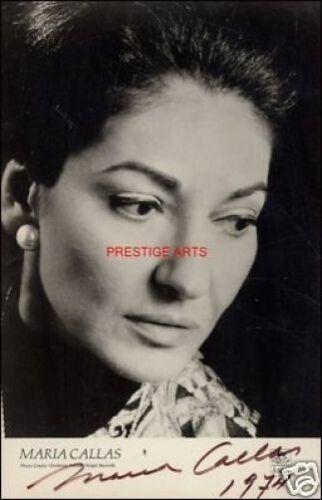 Maria Calla signed photo print