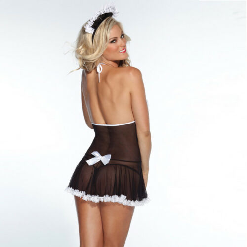 Lingerie Women/'s French Maid Cosplay Uniform Costume Outfit Fancy Party Dress