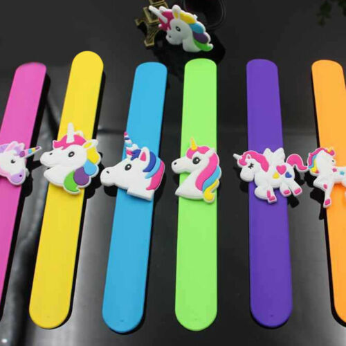 UNICORN SLAP BANDS Kids Wrist Party Bag Filler Toy My Little Pony Birthday Gift