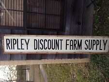 Antique Ripley Discount Farm Supply Sign Metal.12x72 Ripley Tennessee