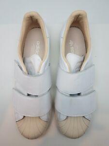 Details about NEW adidas Originals Superstar 80's CF Women's Sz 10.5 shell toe white linen