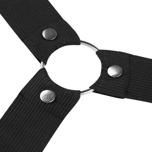 Men/'s Nylon Elastic Chest Harness Strap Body Shoulder Belt Clubwear Punk Costume