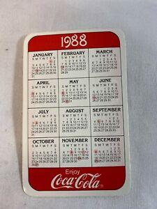 Coca-Cola-1988-Pocket-Calendar-Advertising-Memorabilia