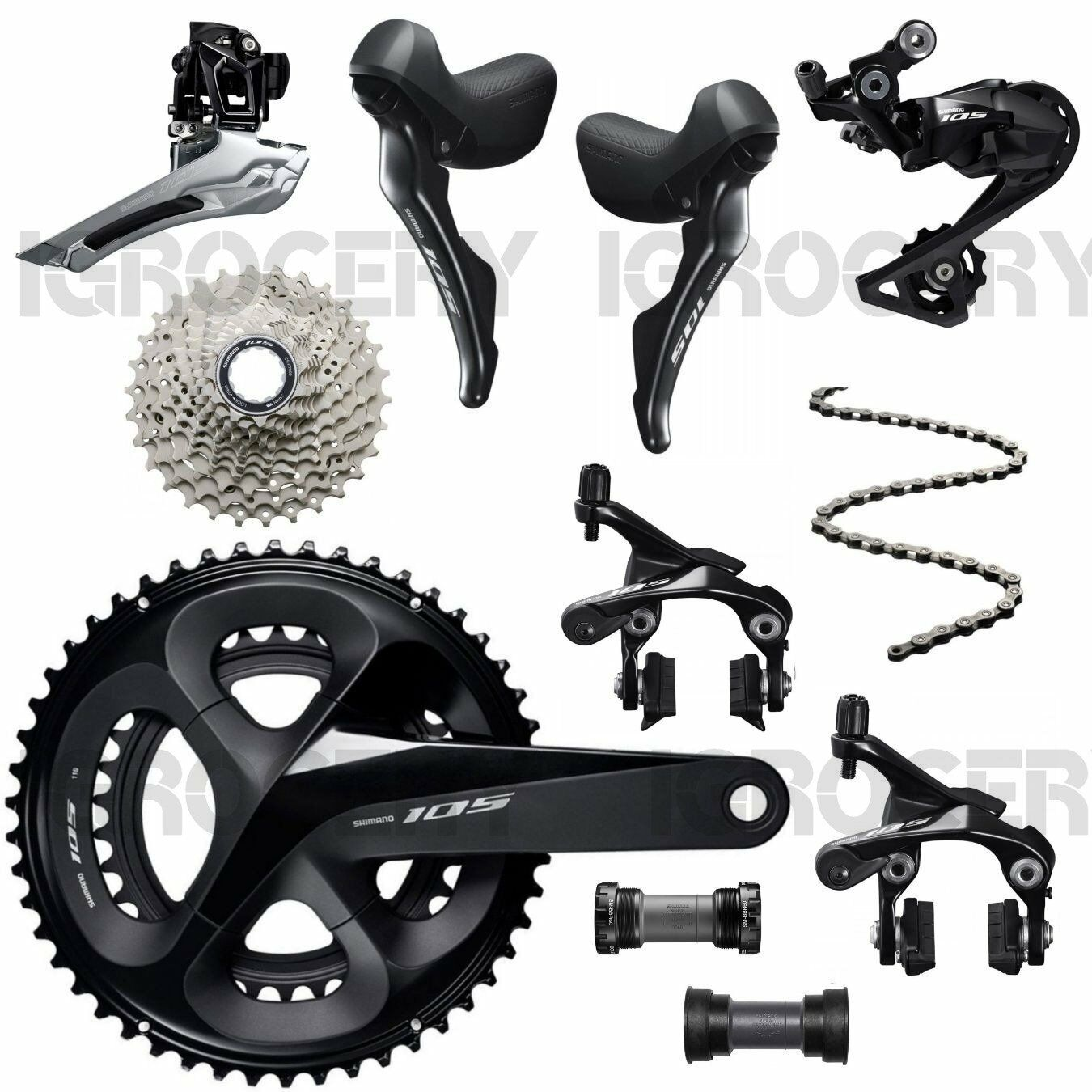 8PCS Shimano 105 R7000 Road Bike Full Groupset 11 Speed 53 39 - SS