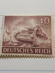 Nazi-Germany-3rd-Third-Reich-Panzer-Tank-in-Action-Ww2-War-era-1940-039-s-Stamp