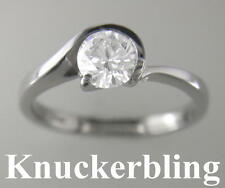 Diamond Solitaire Ring D IF VG Certified 0.90ct Round Brilliant Cut Platinum