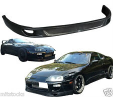 Fits 93 98 Supra Trd V2 Style Front Pu Bumper Lip Spoiler Poly Urethane Black Fits Toyota Supra