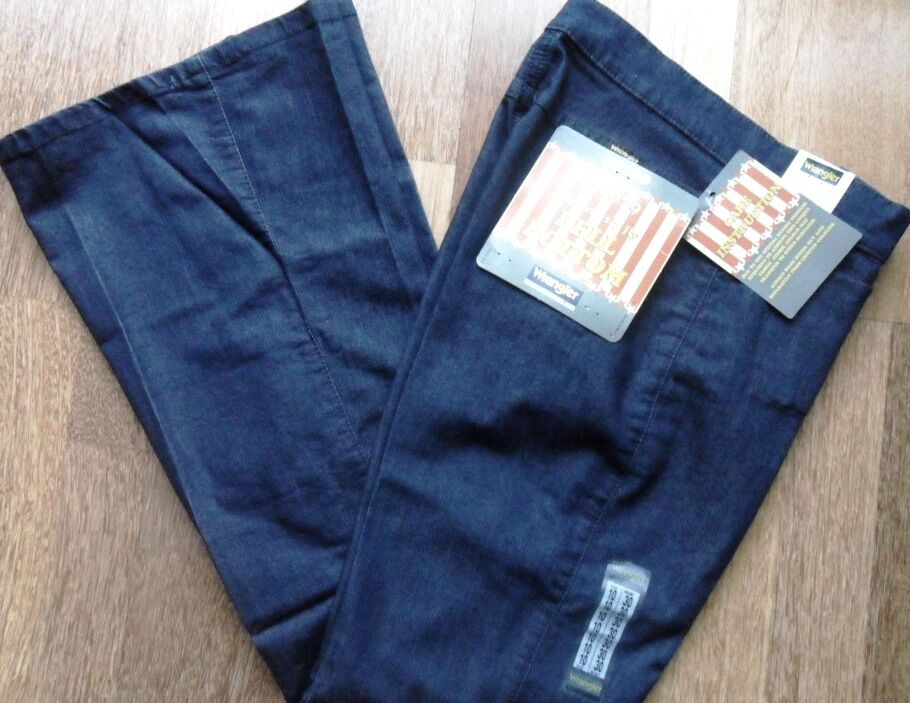 WRANGLER Jeans Donne Ragazze VINTAGE BELL BOTTOM Stretch Denim Indaco Taglie  10,14