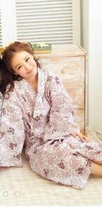 Women-Asian-Art-Kimono-Yukata-Cotton-Japanese-Bathrobe-Robe-Gown-Sleepwear-48-034