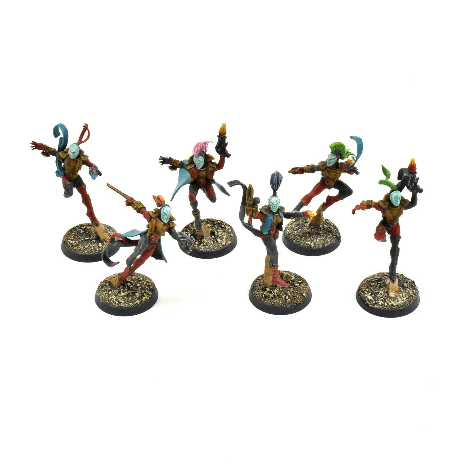 HARLEQUINS 6 harlequin troupe  1 WELL PAINTED  Warhammer 40K harlequin  la qualité d'abord les consommateurs d'abord