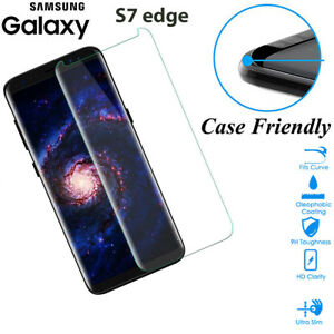 Case-Friendly-Tempered-Glass-Screen-Protector-Cover-Samsung-Galaxy-S7-edge-Clear