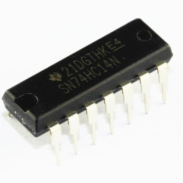 50PCS IC SN74HC14N 74HC14 HEX SCHMITT-TRIG INV 14-DIP NEW