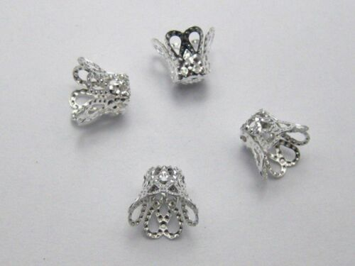 200Pcs Metal Flower Bell Bead Caps 9X7mm Color Choice Jewelry Making DIY