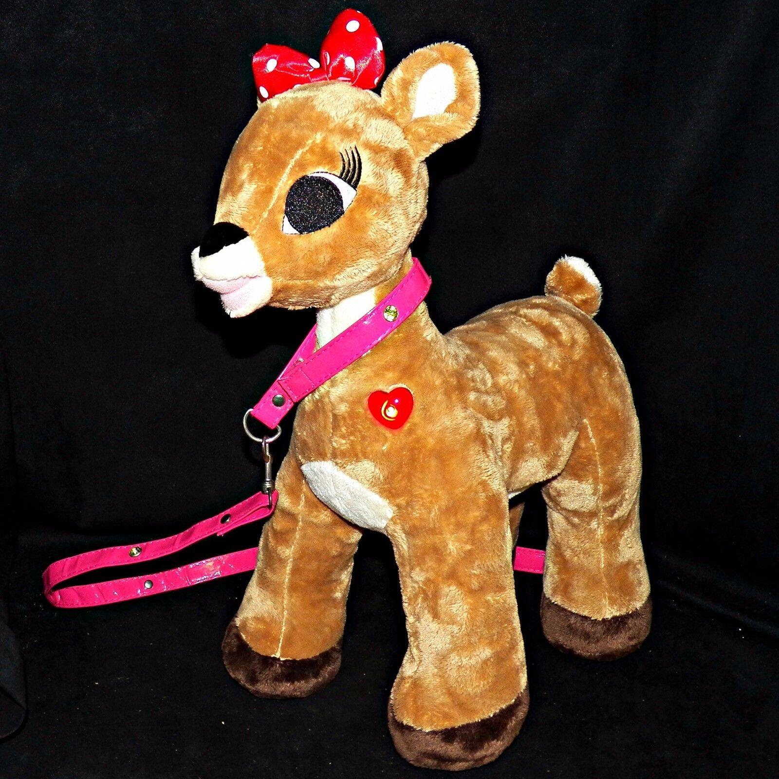 Build a Orso Clarice Rudolph The rosso Naso Renna 17in Peluche Heart Lampeggiante