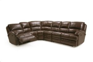 Modern Contemporary Reclining Sectional Leather Air Brown Color Sofa ...