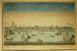 City Of Amsterdam Van Ryne Peter Vue D'optique Xviii Optical Print Thomas Bowles