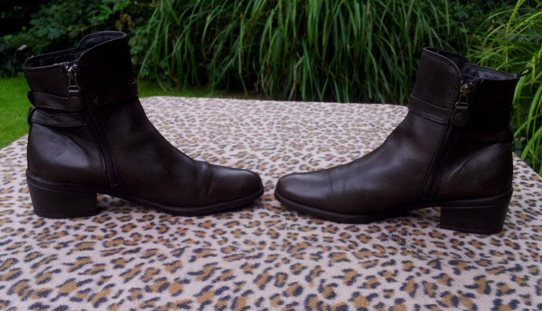 BUSSOLA ankle braun Stiefel Größe UK 7, EU 41   169.00 (Antibacterial shield)