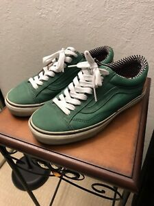 Green Skool Mens Old Details About Supreme Leather Vans 8 bY6Ify7gv