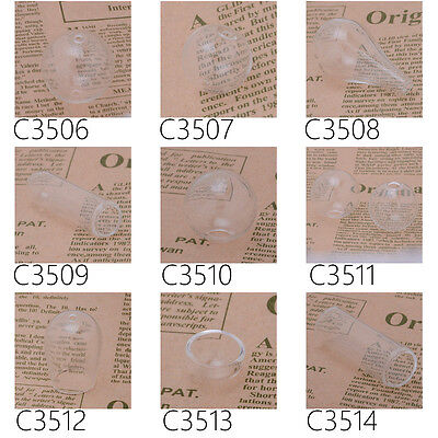 10Pcs Hot Fashion Creative Jewelry Clear Glass Ball Bottle Vials Globe Cover