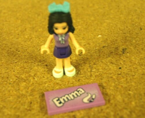 Lego Friends Minifig Mini doll Emma and her name tile NEW