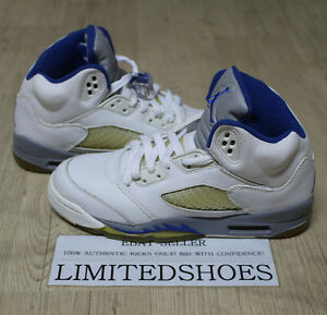 huge selection of a19dc be433 Image is loading NIKE-AIR-JORDAN-5-V-RETRO-GS-WHITE-