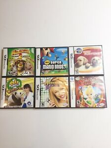 New-Super-Mario-Bros-Nintendo-DS-Large-Game-Lot-Complete-In-Box-6-Games