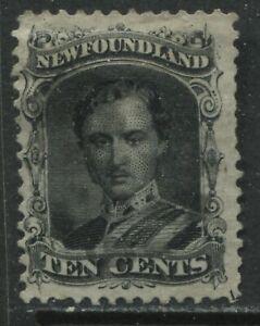 Newfoundland 1865 10 cents Prince Albert lightly used