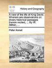 A View of the Life of King David. Wherein Are Observations on Divers Historical Passages Therein Recited, ... by W. Stilton, ... by Peter Annet (Paperback / softback, 2010)