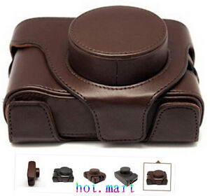 Digital-Cameras-case-Leather-Bag-case-For-Fuji-Finepix-X100-X100s-Camera-Brown