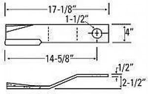 Bush Hog Cutter Blade 67744 Ebay