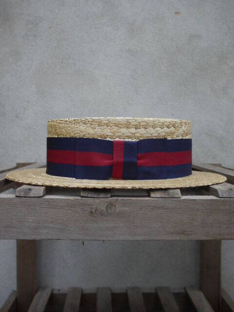 Black band UK Made Boatman Hat Traditional Straw Boater by Olney Headwear